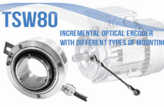 TSW80 – INCREMENTAL ENCODER WITH DIFFERENT TYPES OF MOUNTING