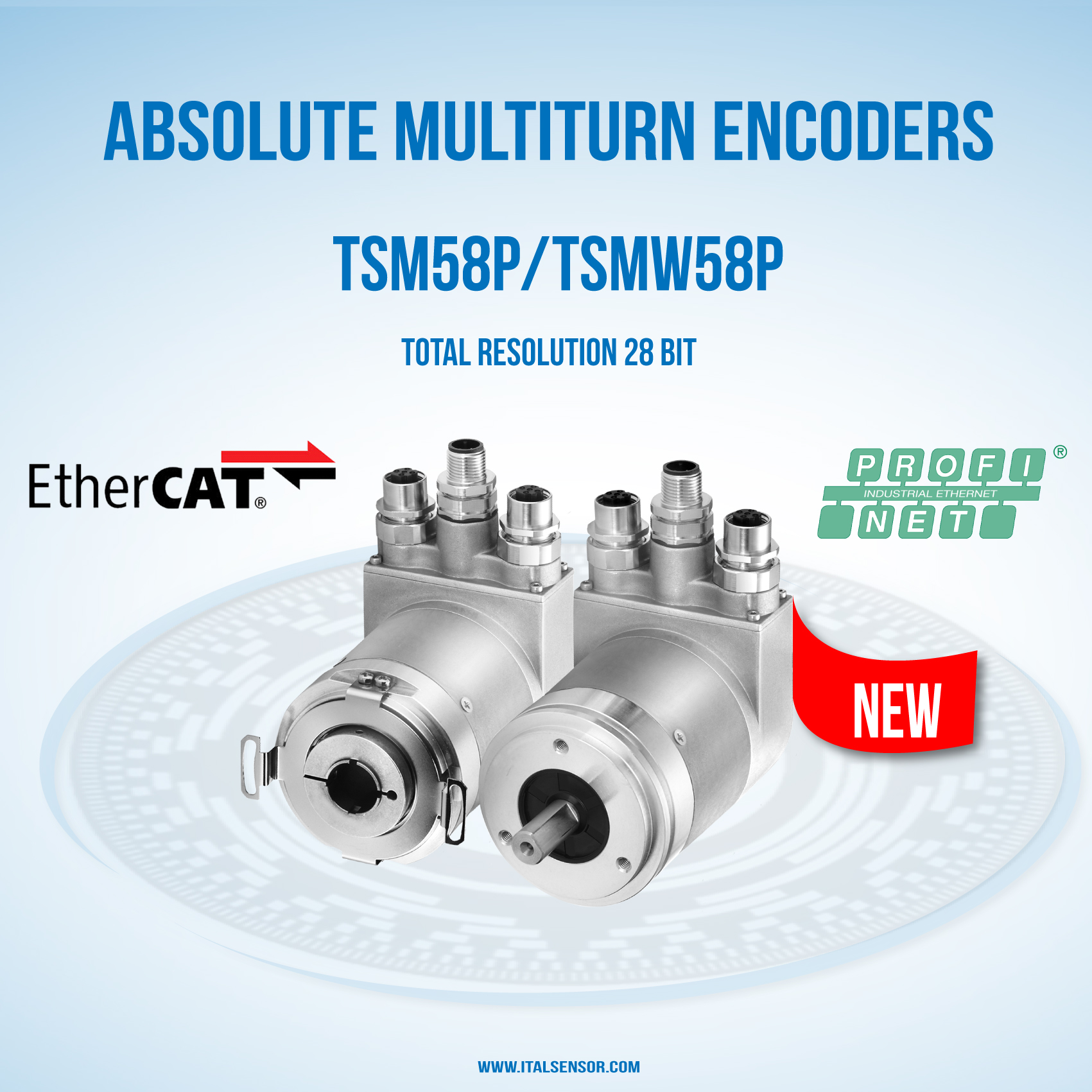 NEW ABSOLUTE ENCODER WITH ETHERCAT AND PROFINET | Italsensor